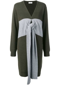 Carven panelled tie jumper dress