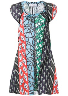 Carven patchwork print dress