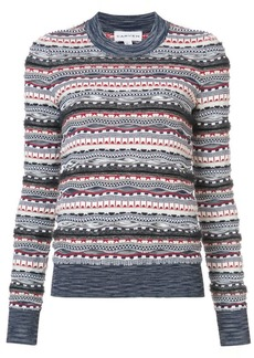 Carven patterned knit jumper