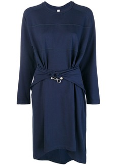 Carven pearl hook belted dress