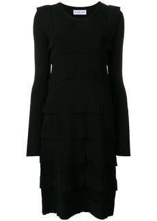 Carven pleat detail knitted dress