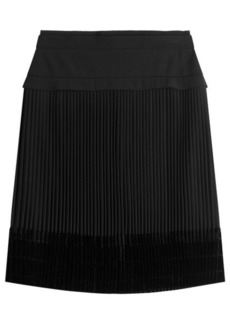 Carven Pleated Skirt with Velvet