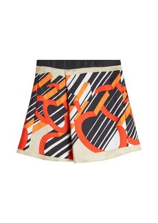 Carven Printed Silk Mini Skirt