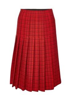 Carven Printed Virgin Wool Midi Skirt