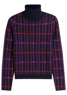 Carven Printed Wool Turtleneck Pullover