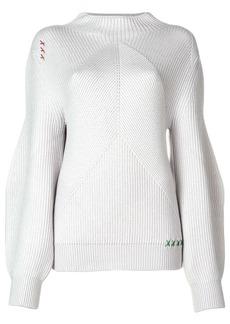 Carven rib knit balloon sleeve sweater