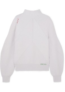 Carven Ribbed Merino Wool Sweater