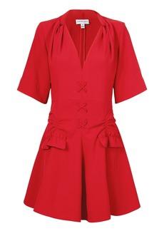 Carven Robe Courte Lace-Up Dress