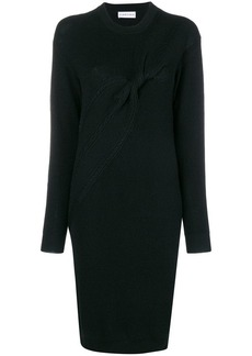 Carven ruched cable sweater dress