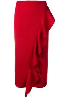 Carven ruffle knitted skirt