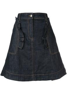 Carven ruffle trim skirt