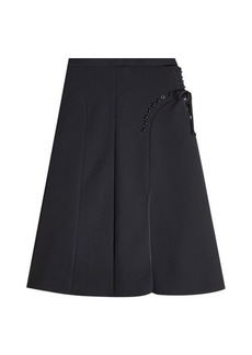 Carven Skirt with Lace-Up Detail