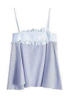 Carven Striped Cotton Camisole