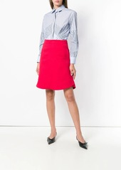 Carven striped pleated front shirt
