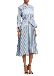 Carven Striped Poplin Shirtdress Dress