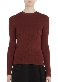 Carven Textured Long Sleeve Top