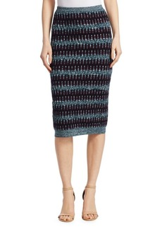Carven Textured Wool-Cotton Midi Skirt