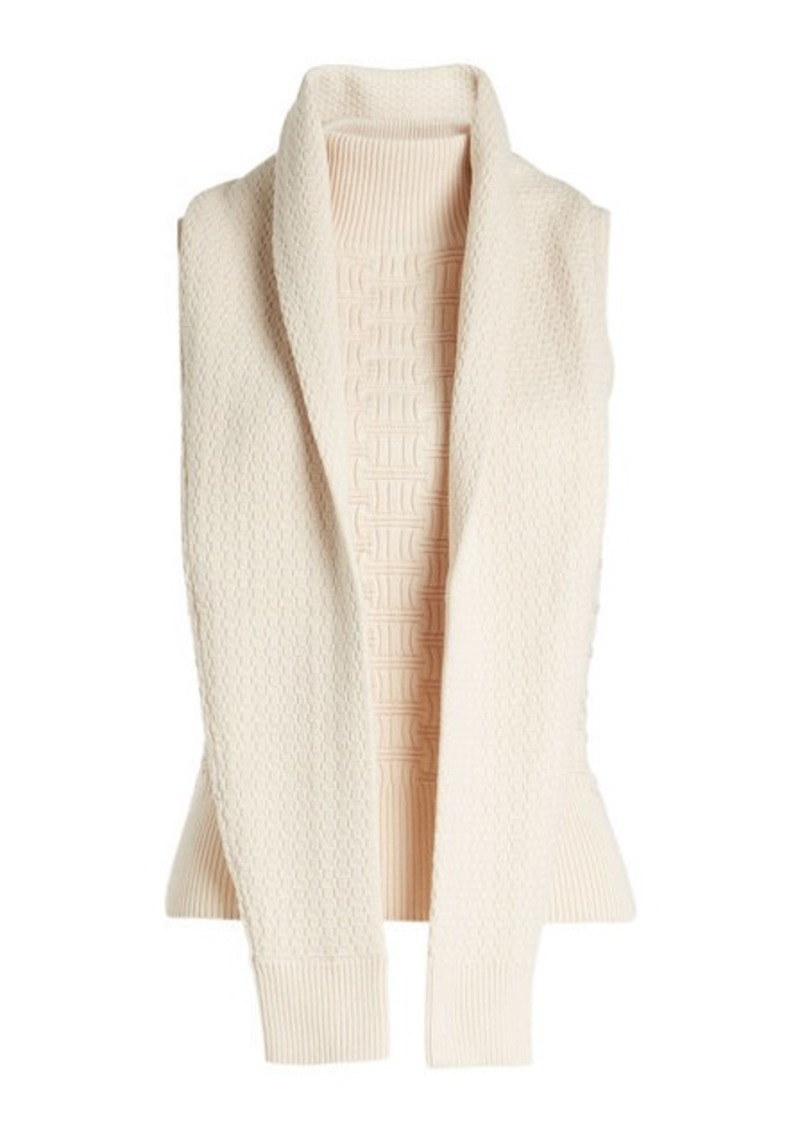 Carven Turtleneck Knit in Cotton and Wool