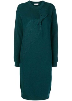 Carven twisted cable sweater dress