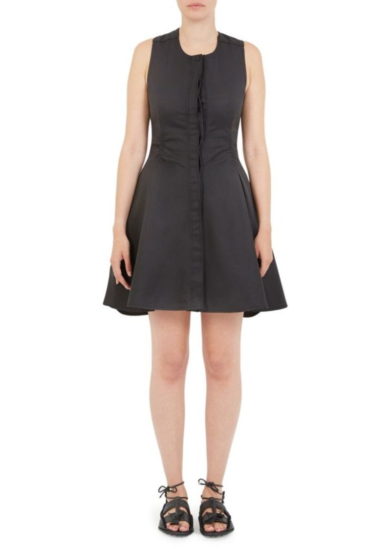 Carven Twisted Open-Back Fit-and-Flare Dress