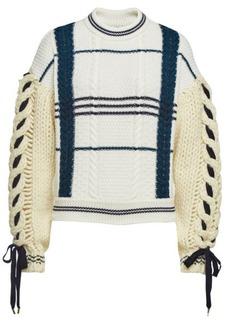 Carven Virgin Wool Pullover with Alpaca