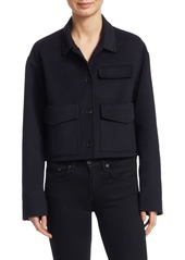 Carven wool blend cropped marine coat abvba0956e9 a