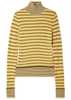 Carven Wool-blend Jacquard Turtleneck Sweater