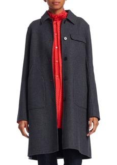 Carven Wool-Blend Patch Pocket Coat