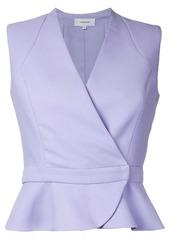 Carven wrap detail sleeveless shirt