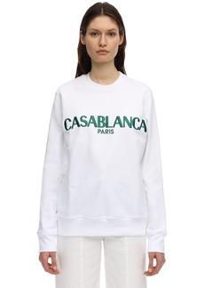 Casablanca Casa Logo Block Cotton Jersey Sweatshirt