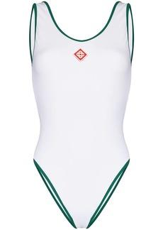 Casablanca Court logo one-piece swimsuit