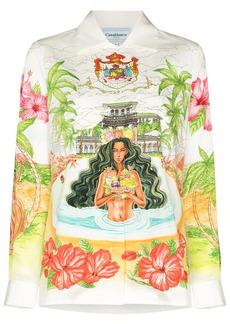 Casablanca Kamehameha buttoned shirt