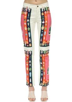 Casablanca Printed Les Parfums Cotton Denim Jeans