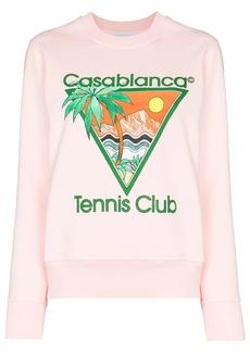 Casablanca Tennis Club print sweatshirt