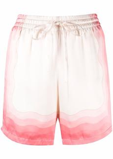 Casablanca tie-dye drawstring silk shorts