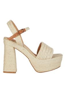 Castañer Aria Platform Raffia Sandals