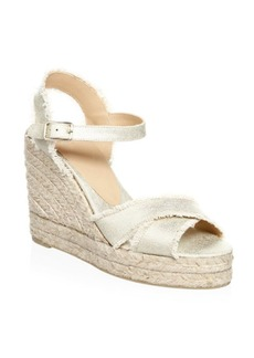 Castañer Bromelia Metallic Wedge Leather Sandals