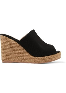 Castañer Bubu canvas espadrille wedge sandals
