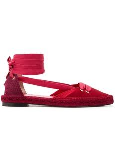 Castañer x Manolo Blahnik lace-up espadrille sandals