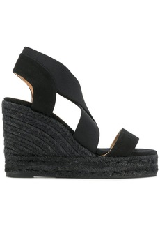 Castañer espadrille wedge sandals - Black