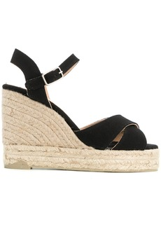 Castañer slingback wedge sandals - Black
