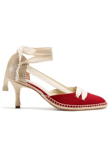 Castañer X Manolo Blahnik canvas pumps