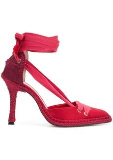 Castañer x Manolo Blahnik lace-up espadrille pumps