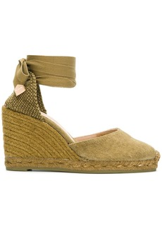 Castañer lace-up espadrille wedges