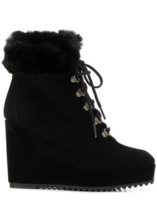Castañer lace-up wedge boots
