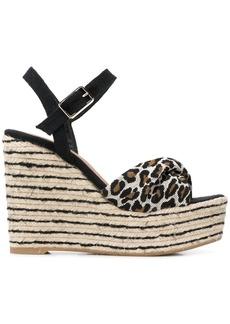 Castañer leopard wedge sandals