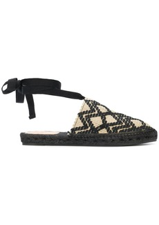 Castañer woven ankle strap slippers