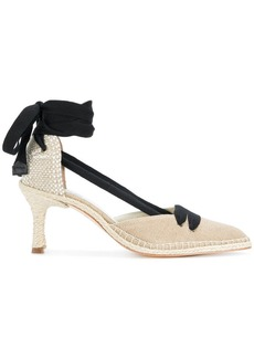 Castañer X Manolo Blahnik Neutral 70 espadrille pumps