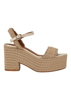 Castañer Xesqui Braided Rattan Platform Sandals