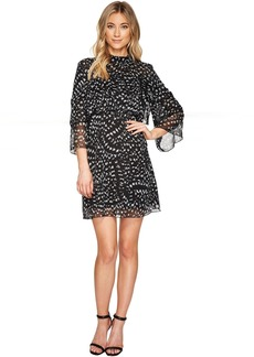 3/4 Sleeve Large Ruffle A-Line Dress